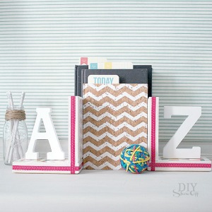 DIYShowOff Michaels Makers back to school book ends feature