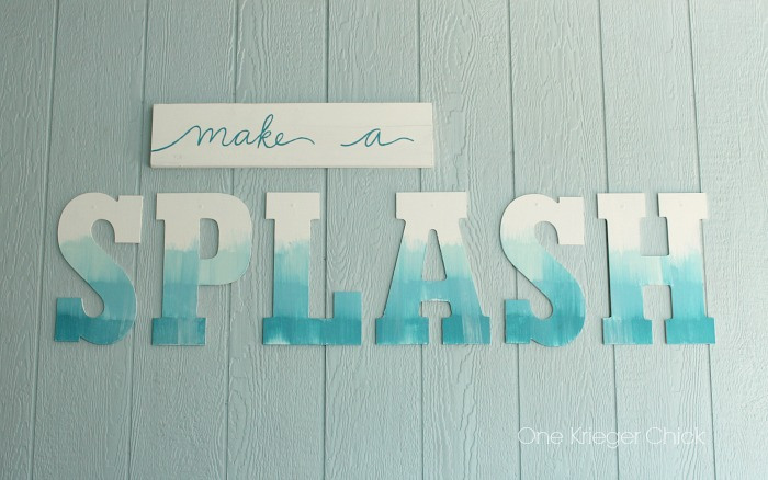 Splash-Poolside-Painted-decor-with-a-water-color-effect - One Krieger Chick