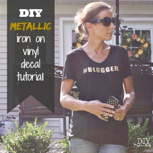 gold #blogger iron on decal tutorial
