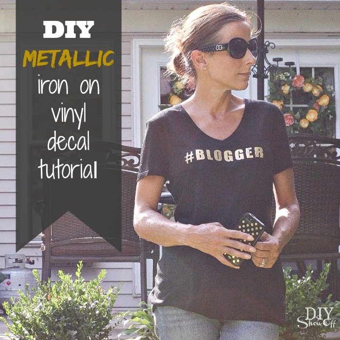 DIY metallic iron on decal tutorial @diyshowoff