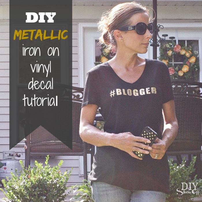 DIY metallic iron on decal tutorial @diyshowoff