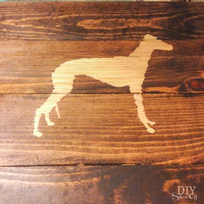 DIY wood plank sign tutorial