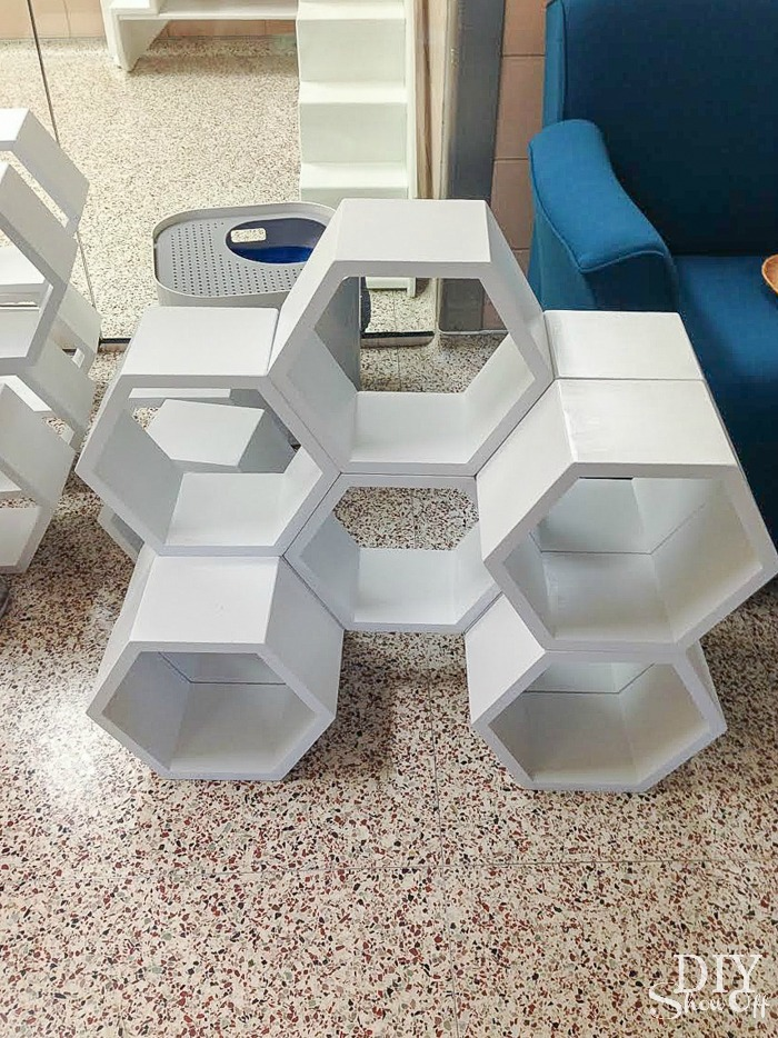 hexagon cat cubbies