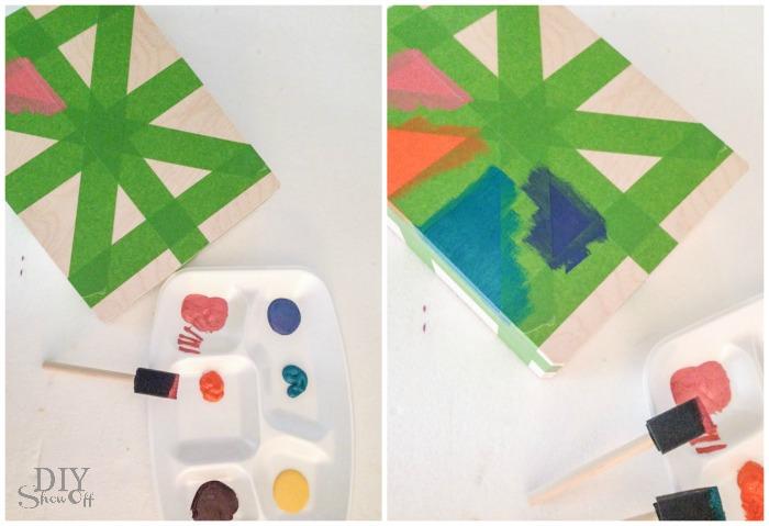 painted box craft idea at diyshowoff.com