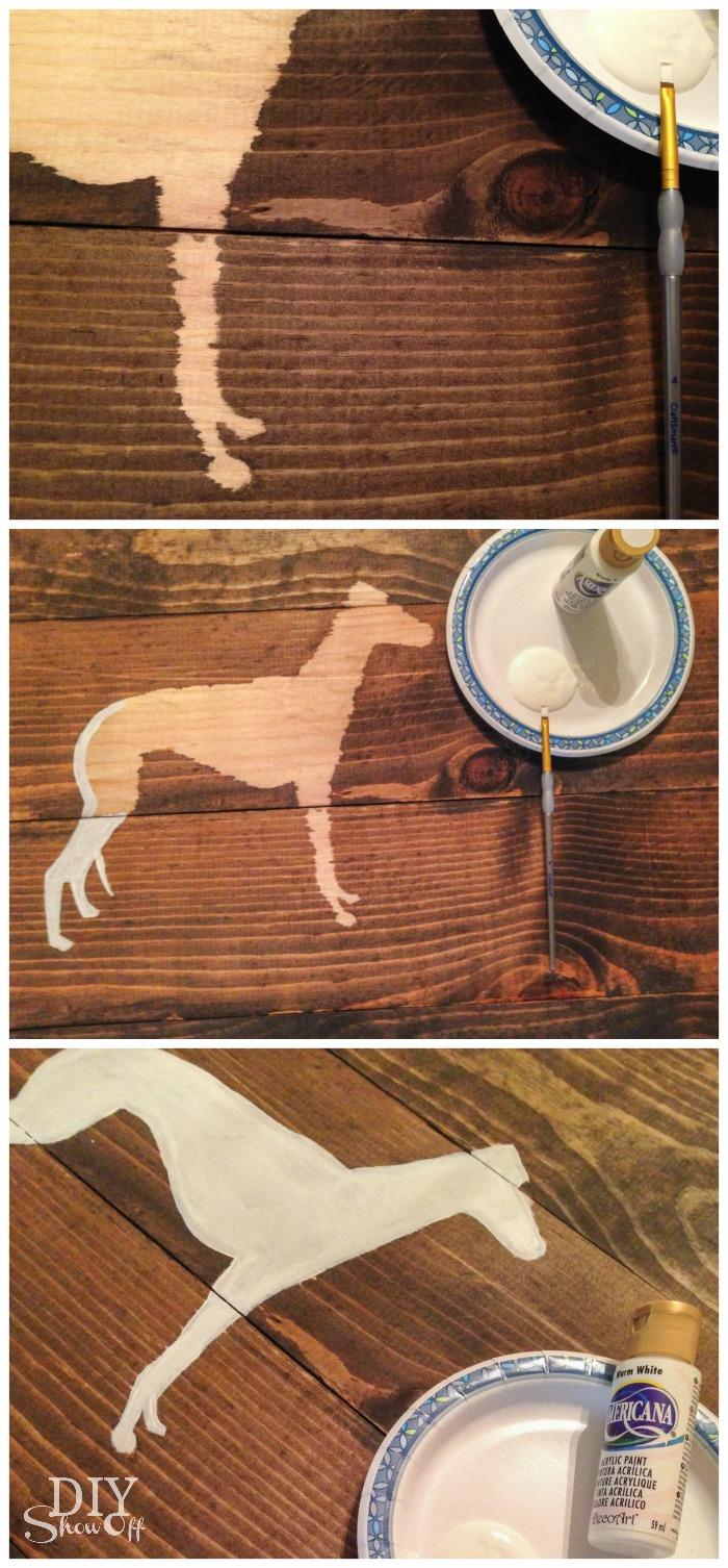 Art On Wood Planks ~ Silhouette scrap wood wall art diy show off ™