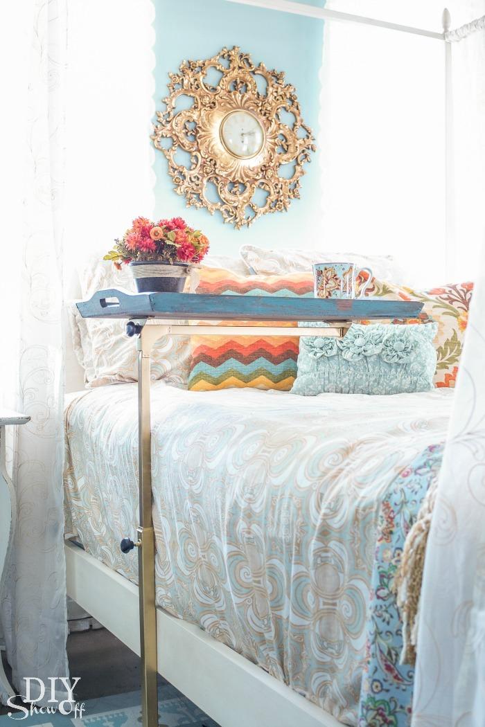 hospital} bedside table makeover - diy show off ™ - diy decorating Diy Bed Table