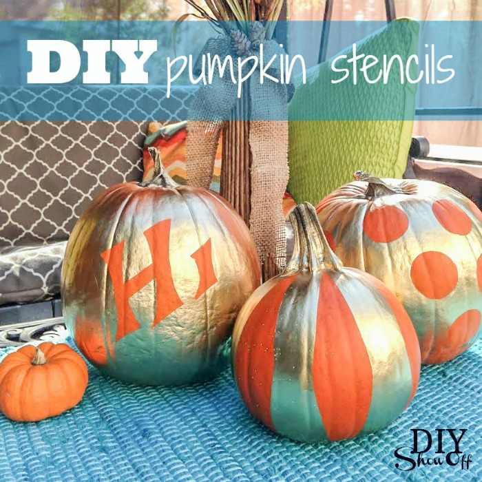 DIY pumpkin stencils at diyshowoff.com
