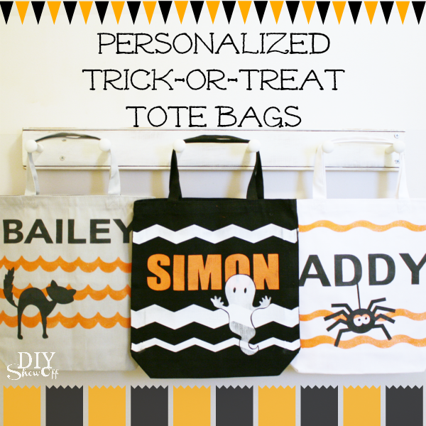 DIY trick or treat tote bags