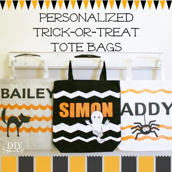 DIY trick or treat tote bags