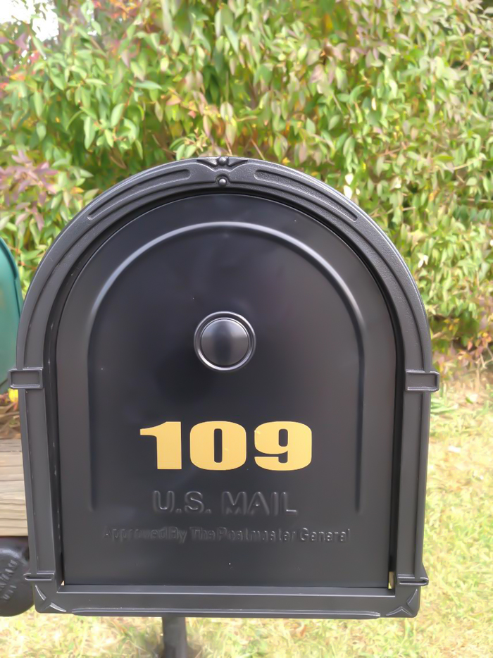 DIY mailbox vinyl decals tutorial at diyshowoff