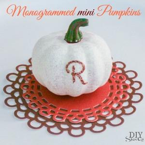 Monogrammed mini pumpkins
