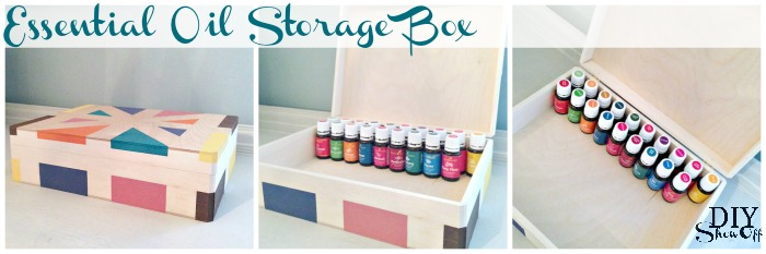 Young Living essential oil storage box @diyshowoff