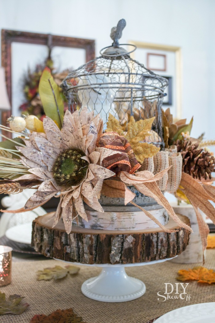 fall centerpiece @diyshowoff #michaelsmakers