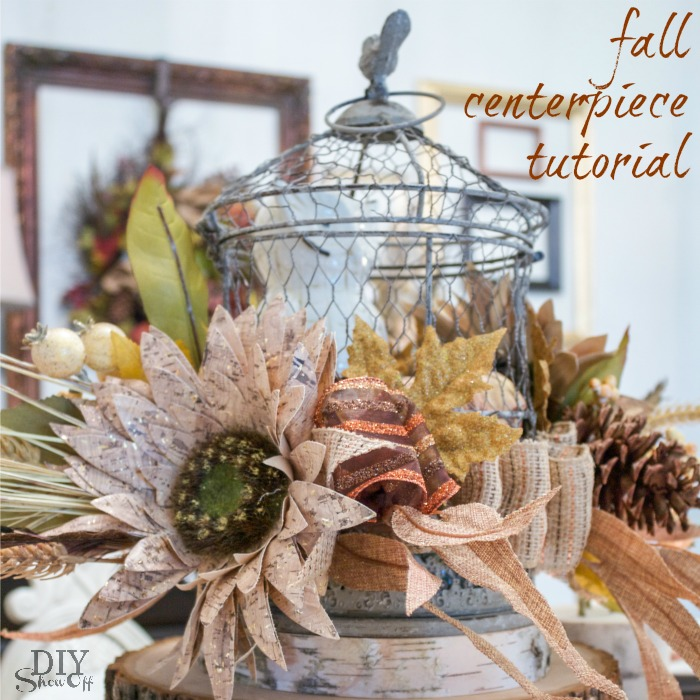 fall centerpiece tutorial at diyshowoff.com