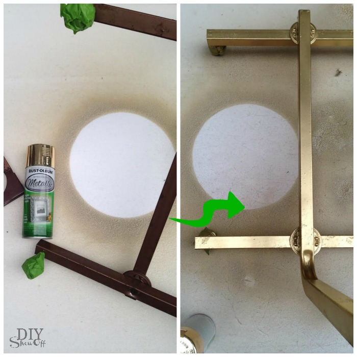 hospital bedside table DIY makeover