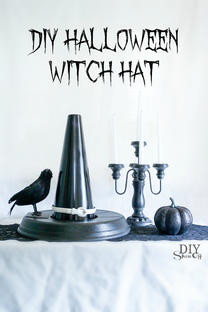 DIY Witch Hat Halloween decor tutorial @diyshwoff