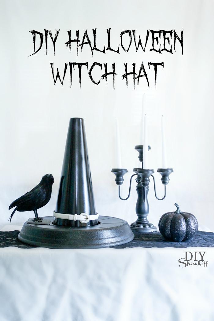 DIY Witch Hat Halloween decor tutorial @diyshwoff