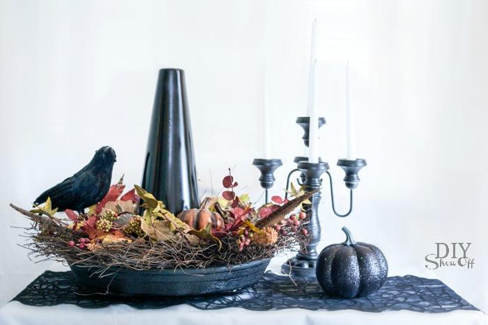 DIY witch hat Halloween centerpiece tutorial