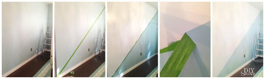 Diagonal Wall Paint Design Tutorial