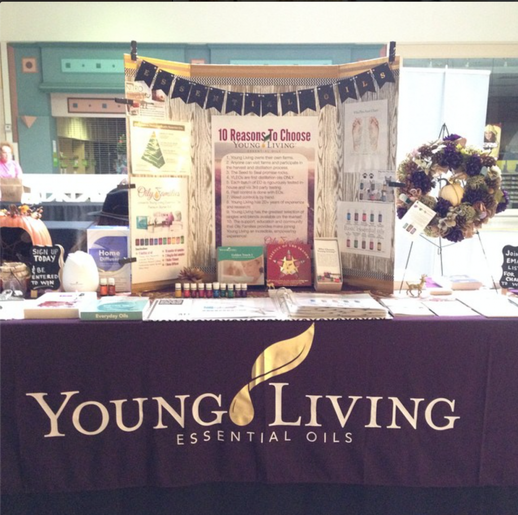 Young Living essential oils display