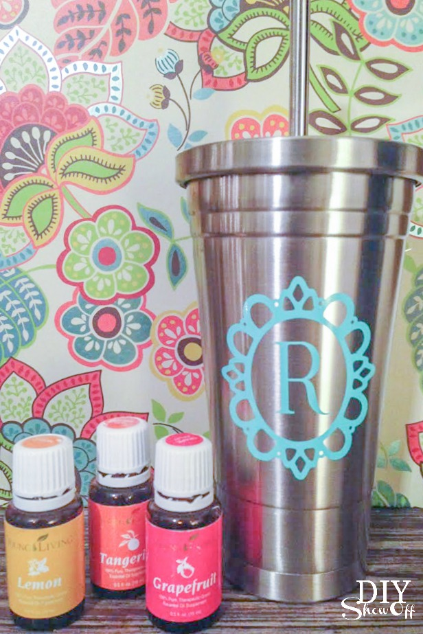 Young Living essential oils - stainless steel tumbler for citrus oil @diyshowoff
