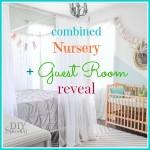 combined guest room nursery reveal @diyshowoff