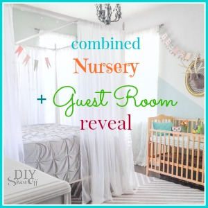 combined guest room nursery reveal @diyshowoff