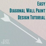easy diagonal wall paint design tutorial @diyshowoff
