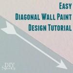 easy diagonal wall paint design tutorial @diyshowoff
