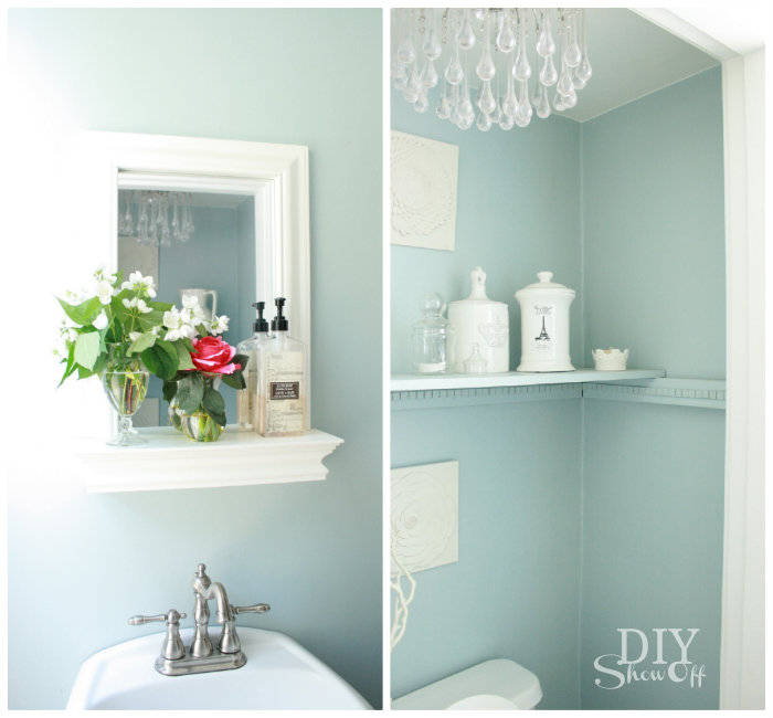 Toilet Paper Holder Shelf And Bathroom AccessoriesDIY Show Off ™ U2013 DIY  Decorating And Home Improvement Blog