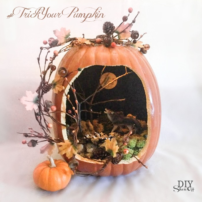 pumpkin diorama @diyshowoff