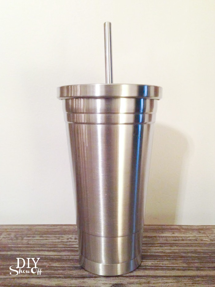 vinyl decal tutorial for stainless steel tumbler (for essential oils) @diyshowoff #happycrafters