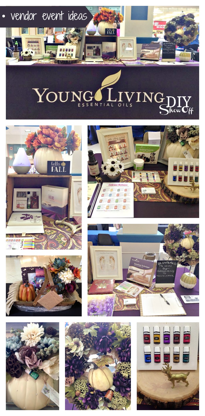 vendor event ideas - young living essential oils @diyshowoff