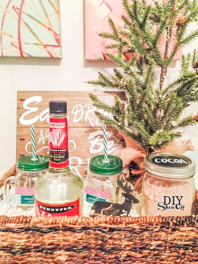 Holiday Gift Basket Idea With Free Printables Diy Show