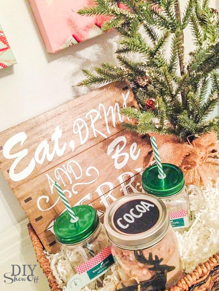 DIY cocoa gift basket set @diyshowoff