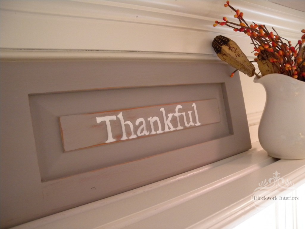 Thankful Sign @clockworkinteriors