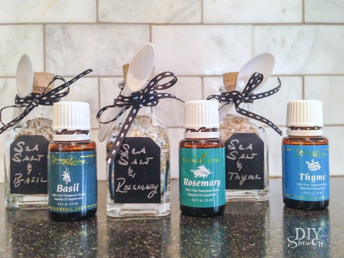 essential oil and sea salt gift idea @diyshowoff