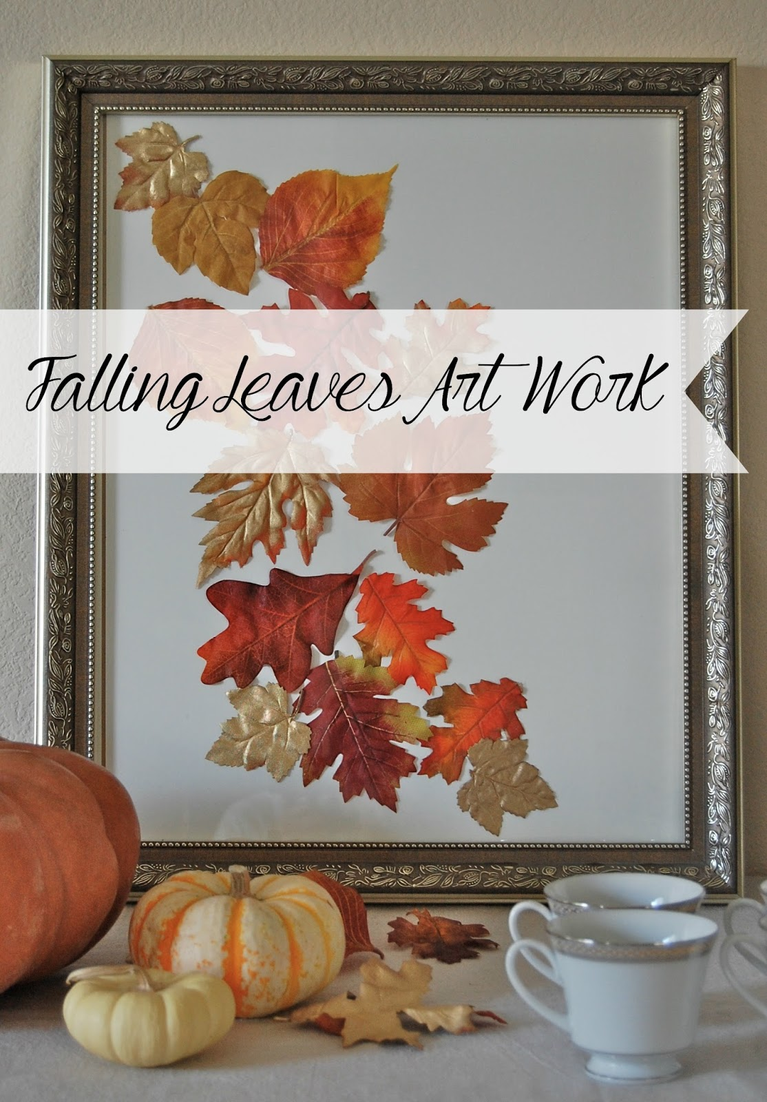 falling leaves art work @desertwillowlane