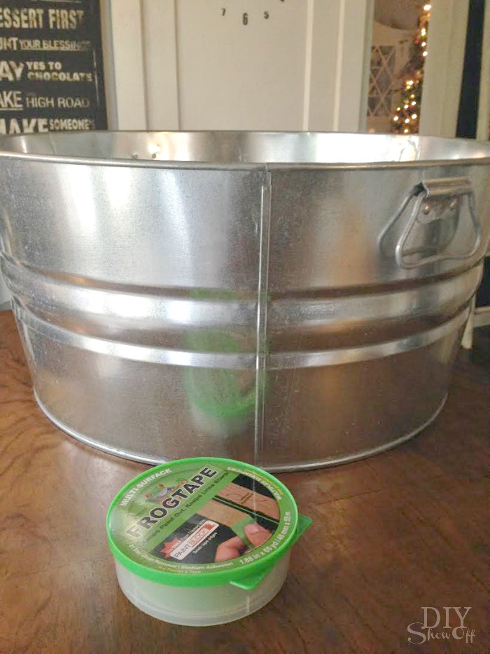 Christmas Tree striped tub tutorial @diyshowoff