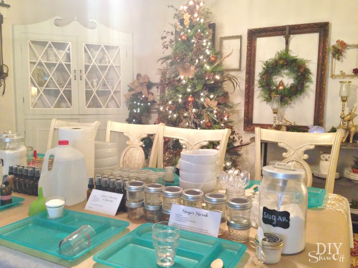Young Living Essential Oils Make Take Holiday Open House Ideas Diyshowoff