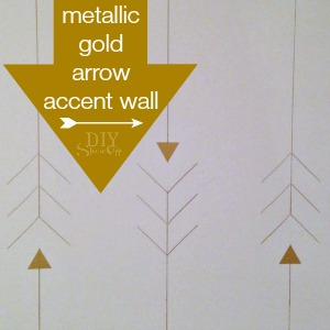 metallic gold arrow accent wall @diyshowoff