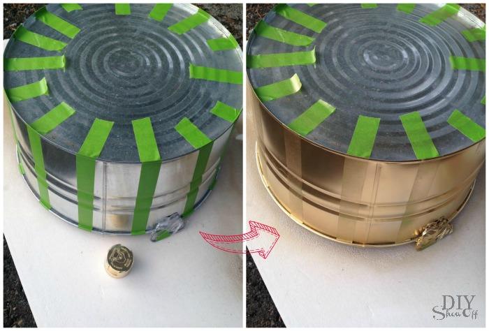Christmas Tree striped tub tutorial @diyshowoff