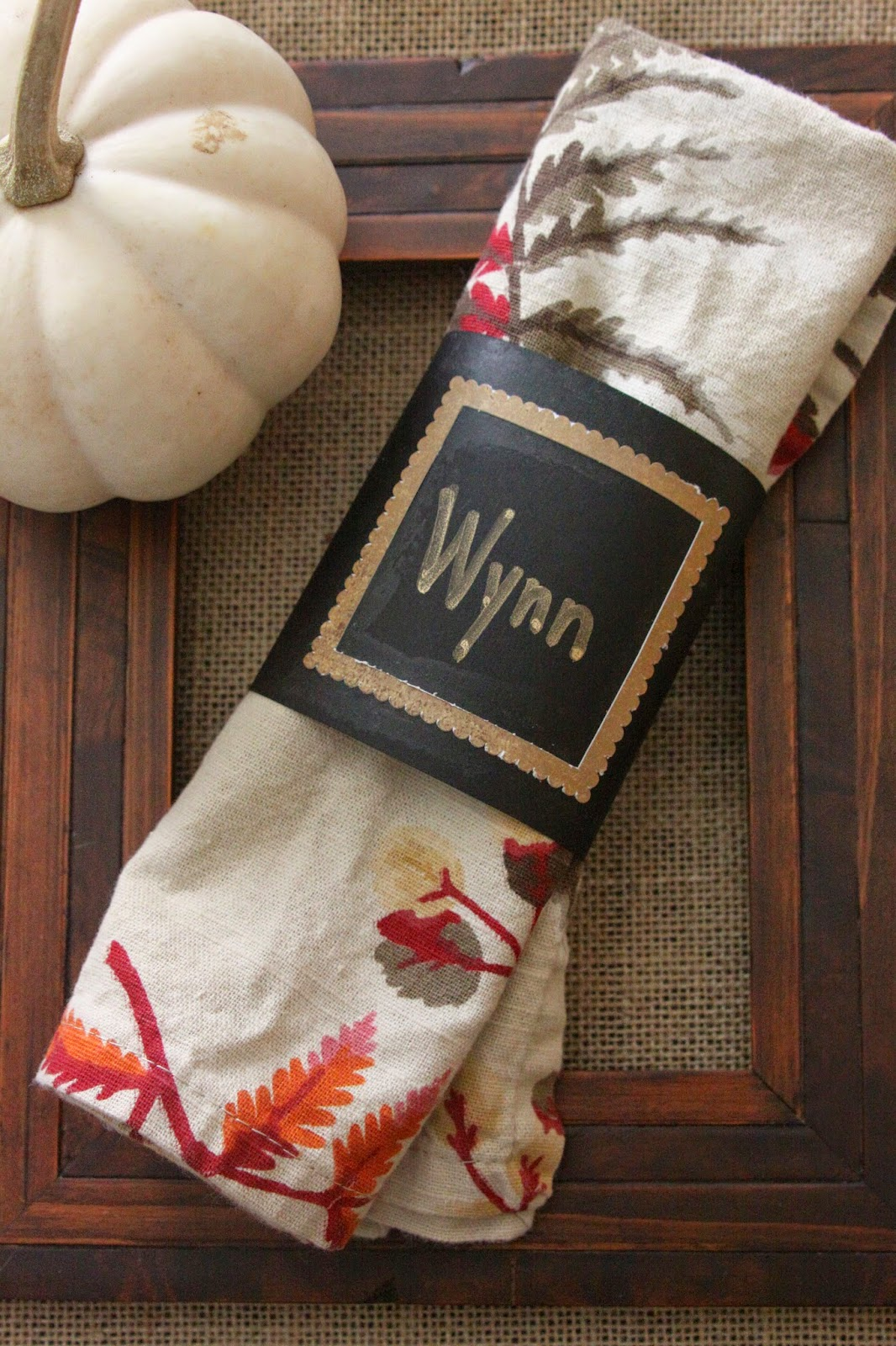 thanksgiving place card napkin wraps @ourpinterestingfamily