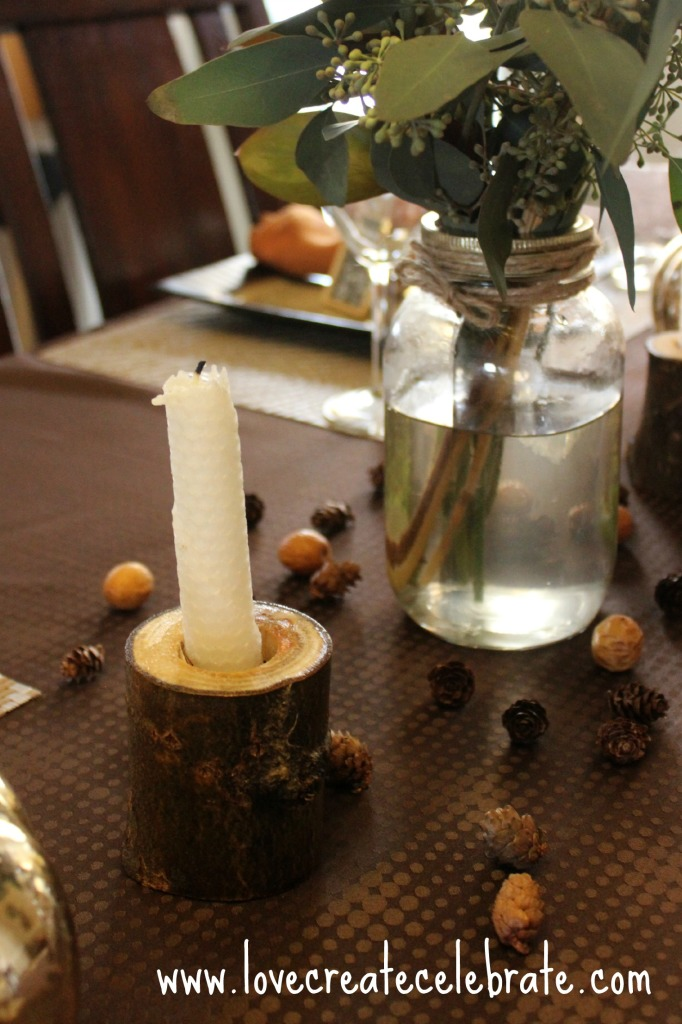 wood candleholders @lovecreatecelebrate