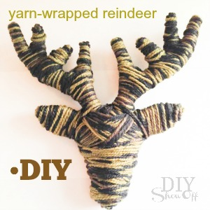 yarn wrapped reindeer tutorial @diyshowoff