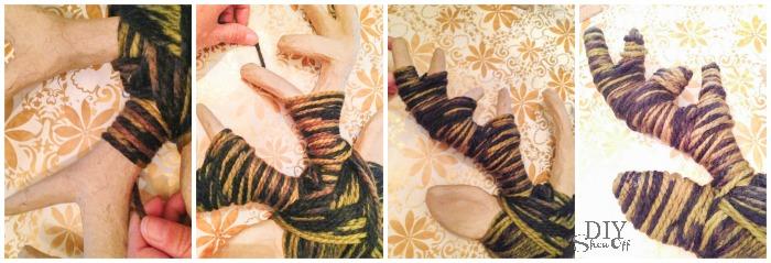 DIY yarn wrapped reindeer tutorial @diyshowoff