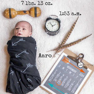 Aaro Birth Announcement @diyshowoff