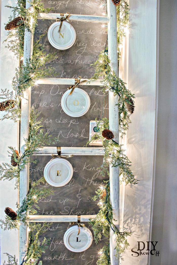 easy personalized DIY ornaments @diyshowoff #lowescreator