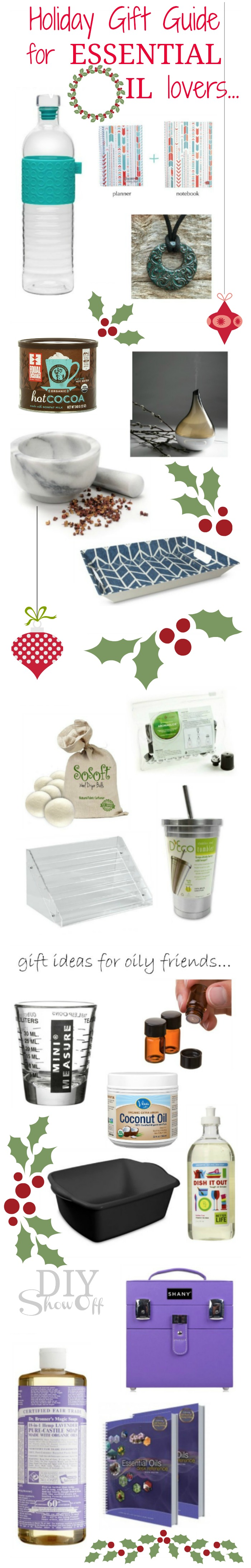 Holiday Gift Guide for Essential Oil Lovers @diyshowoff