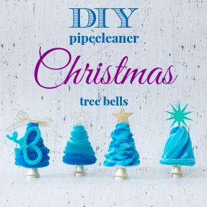 How to make pipecleaner Christmas tree bell ornaments